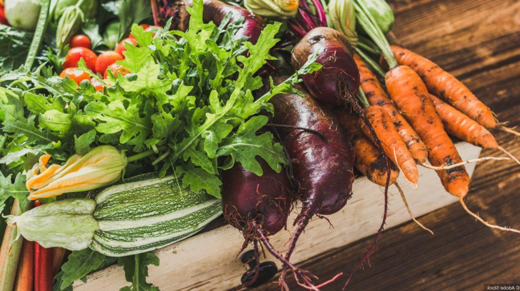 Cagette de légumes locaux